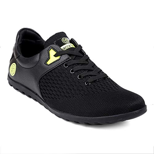 Bacca Bucci Men Casual Sports Shoes -Gym Walking Running Tennis Athletic Competition Low Ankle Sport Lace-ups Sneakers - Black