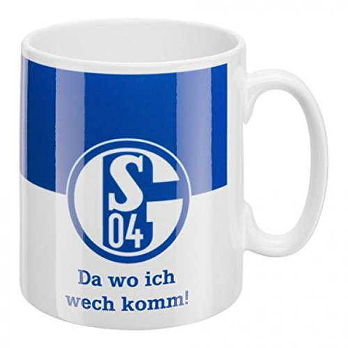 FC Schalke 04 Kaffeebecher Da wo ich wech komm!
