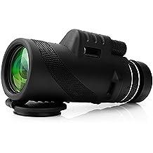 Telescopio monocular 40X60 con enfoque dual zoom óptico Telescopio impermeable a prueba de niebla con visión para día y noche de pájaros turismo caza acampada senderismo conciertos y mucho más de 500 a 9500 metros