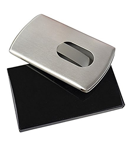 Doutop Stainless Steel Business Card Holder Wallet Credit Name Card Case Holders RFID Blocking Bank ID Card Protector Box Pocket Purse for Men Women (Stainless Steel Name Card Case)
