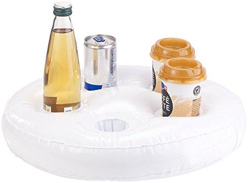 Preisvergleich Produktbild infactory Poolbar aufblasbar: Aufblasbarer Schwimm-Getränkehalter, 5 Halterungen, Ø jeweils 5,5 cm (Getränkehalter Pool aufblasbar)