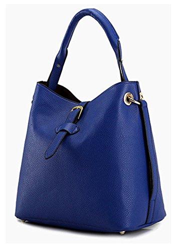 Tibes synthétique sac à main en cuir sac à bandoulière fourre-tout Bleu