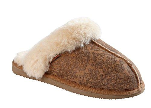 Shepherd Pantoufles peau d'agneau Dos-nu Mule à Enfiler avec peau d'agneau manchette Jessica Cachemire Cachemire