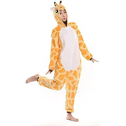 iKneu Unisex Kigurumi Pigiama Cosplay Costume Animale Halloween Biancheria Da Notte - Giraffe Scimmia