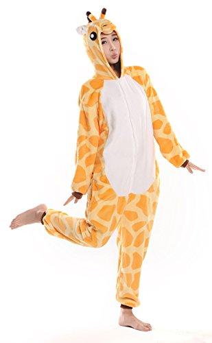 Nicetage Cosplay Onesie Jumpsuits Anime Kostuem Erwachsene Pyjama Overall Hausanzug Kigurum Giraffe (Erwachsene Giraffen Kostüme Für)