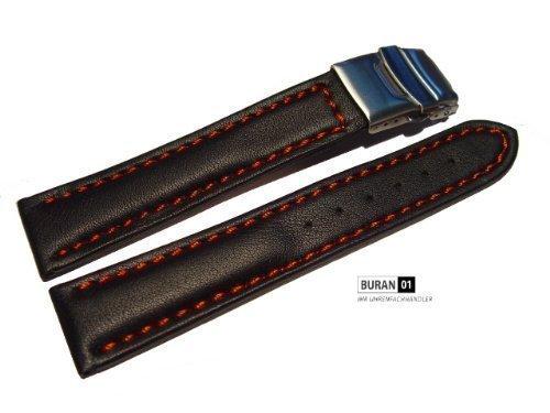 original-von-buran01com-uhrenarmband-mit-sicherheitsfaltschliesse-schwarz-rote-naht-20mm