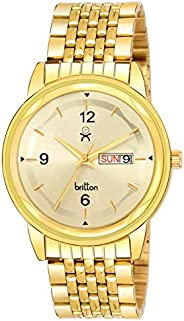 BRITTON Day and Date Display Analogue Gold Dial Men's Watch -BR-GR541-WHT