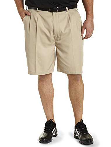 Reebok Big and Tall Golf Speedwick Continuous Comfort Pleated Shorts (Pleated Shorts)