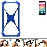 K-S-Trade Bumper für Allview V3 Viper Silikon Schutz Hülle Handyhülle Silikoncase Softcase Cover Case Stoßschutz, blau (1x)