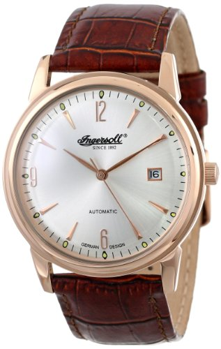Ingersoll Men's Automatic Watch IN6802RSL With Silver Dial And Brown Strap