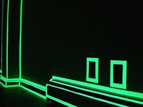 High Brightness Light Light Storage,Luminous photoluminescent Markers for Stairs exit Sign. Glow in The Dark Fluorescent Tape,Self-Luminous PET Luminous Warning Walls Steps
