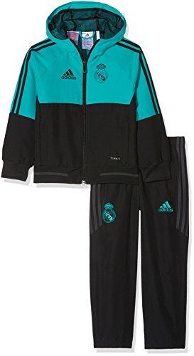 adidas Kinder Real Madrid Präsentationsanzug, Aerree/Black, 98