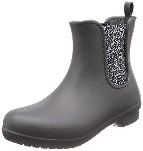 crocs Damen Freesail Chelsea Boot Women Gummistiefel, Grau (Slate Grey/Dots), 36/37 EU