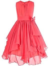 0208c79fb3 Freebily Vestido de Boda Bautizo Fiesta Graduación para Niña Dama de Honor  Vestido Princesa Infantil 4