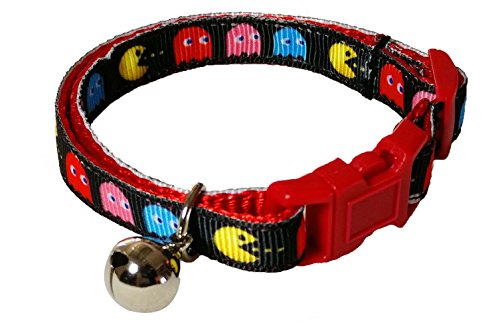 spoilt-rotten-pets-pac-cat-retro-gamer-pac-man-design-cat-collar-safety-buckle-designed-made-in-the-