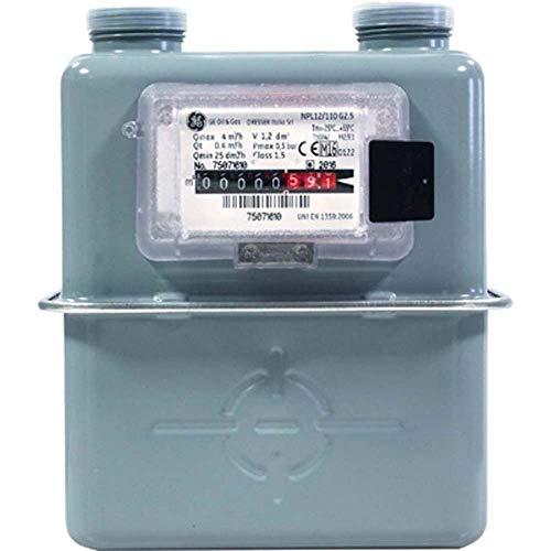 DianKamin Compteur volumétrique mural pour gaz GPL méthane, compteur intérieur110 dB.