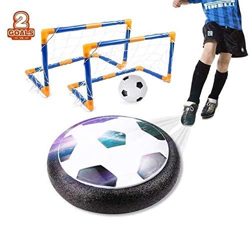 amzdeal Air Football Set inkl.1 x Luftkissen Fußball + Mini Fußball +2* Fußballtor + Ball Pumpe LED Beleuchtung Und Musik Air Power Fußball Hover Ball Set -