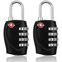 midwec 2pezzi TSA a combinazione lucchetto di sicurezza lucchetto per bagagli di viaggio (Nero)
