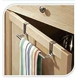 Jeffyo - Toallero para armario con gancho para colgar encima de la puerta, toalla de cocina, cajón de baño
