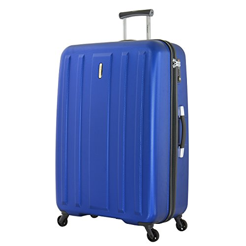 Eminent Valigia Capetown 82cm 122L Guscio duro leggero 4 Ruote silenziose Lucchetto TSA Blu