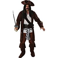 Adult Mens Carribbean Captain Pirate Man Outfit