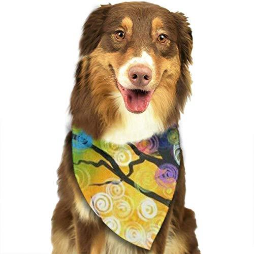 Osmykqe Colorful Tree Hund Bandana Pet Schal für kleine mittelgroße Hunde Zubehör (Dog Name Tag-camo)