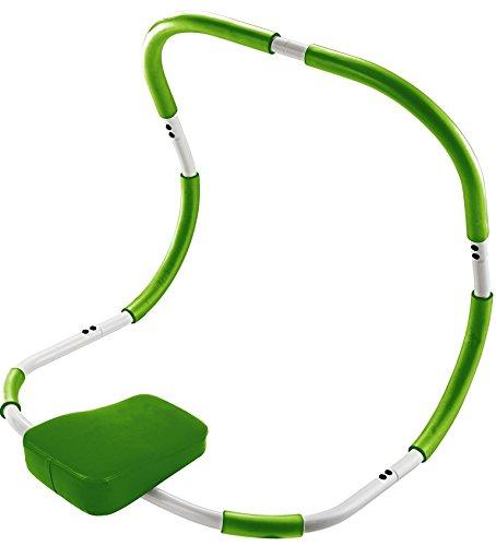 BODYCOACH Bauchmuskeltrainer, AB TRIMMER 18090 - ideales Fitnessgerät für Zuhause, Bauchtrainer und Rückentrainer, gepolsterte Kopfstütze weiss/grün