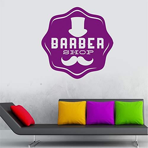 zlhcich Friseur Aufkleber Hacken Brot Aufkleber Haarschnitt Rasierer Poster Vinyl Wandkunst Aufkleber Decor Windows Dekoration Wandbild80 * 80 cm