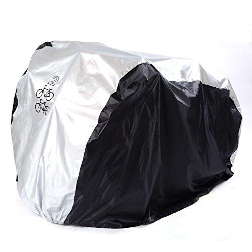 """GenialES 190T Nylon Wasserdichter 2 x 26"""" Fahrradgarage Abdeckhaube Fahrradschutzhülle Universal Fahrrad Gewebeplane Regenschutz Schutzbezug Abdeckplane Bike Rain Cover 190*72*110cm"""