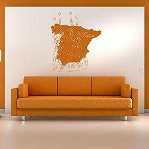 azutura Mapa de España Puntos de Referencia Resto del Mundo Vinilos Inicio decoración Art Pegatinas Disponible en 5 tamaños y 25 Colores X-Grande Blanco