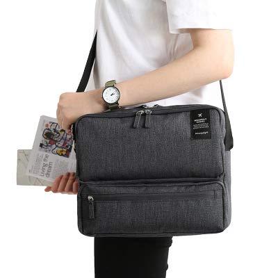 Borsa da viaggio a tracolla diagonali di lusso borsa da uomo e da donna borsa multifunzionale per documenti zaino grigio scuro