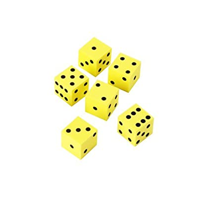 6 x Learning Resources 16mm Foam Dot Dice from Learning Resources