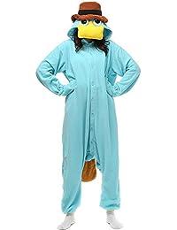 Erwachsene Unisex Kostüm Jumpsuit Onesie Tier Fasching Karneval Halloween kostüm Cosplay Schlafanzug, Giraffe