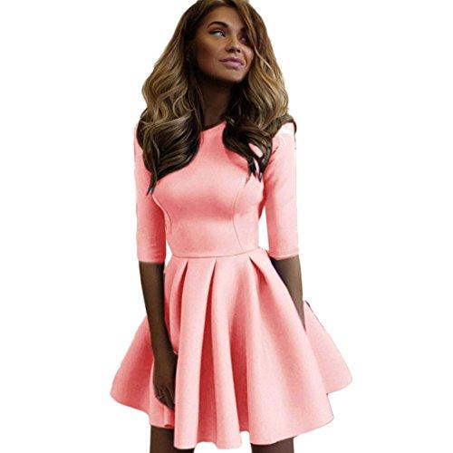 Oyedens gonna donna moda vestito donne le signore sottile benda aderente abito da cocktail party club (m, rosa)