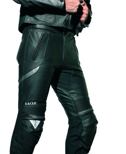 Racer Corium Lederhose kurz, Schwarz/Silber, Größe 60