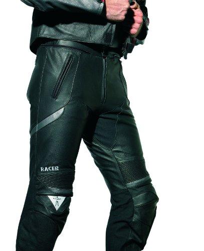 *Racer Corium Lederhose, Schwarz/Silber, Größe 66*