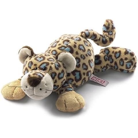 NICI 26551 - Leopardo in Peluche con Cuoricini, Sdraiato 30 Cm
