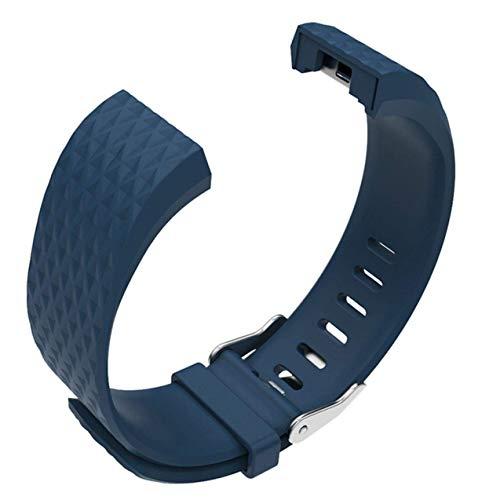 Ruiyiheng Robust Silikon Band für Charge 2 Weiches Gummi Uhrenarmband 2 Ersatzarmband Armband für Camping, Picknick und Andere Außen Aktivitäten - Rock Blau 3D Lingwen Trompete