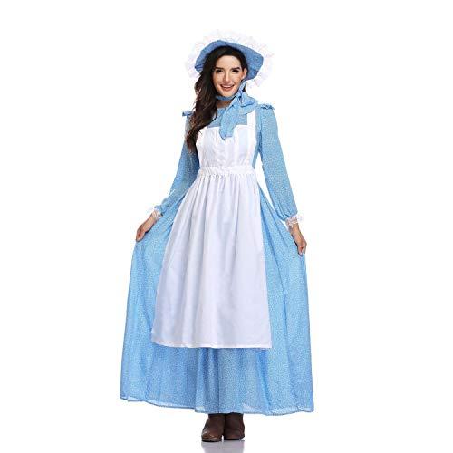 Dienstmädchen Kostüm Halloween Erwachsenen Europäischen Pastoralen Stil Cosplay Märchen Kolonial Kleid Bier Mädchen Förderung Bühnenkleidung,A,L