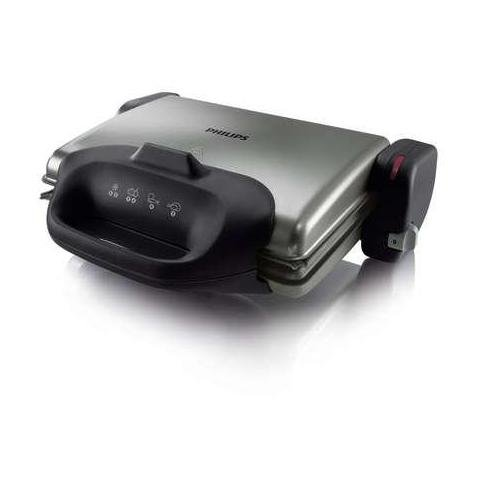 Philips HD4467/90 parrilla Potencia 2000 W Color Plata/Negro