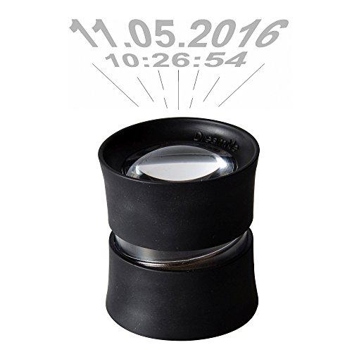 DreamMe Kit schwarz Projektions-Wecker Smartphone-Projektor Gadget (inkl. Reisebeutel & Linsenputztuch)