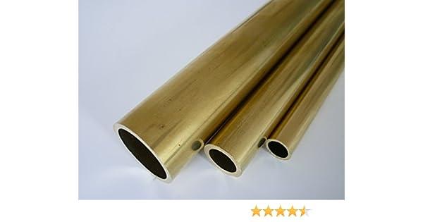 500 mm lang Legierung Ms63 CuZn37 B/&T Metall Messing Rohr /Ø 4,0 x 1,0 mm rund ca