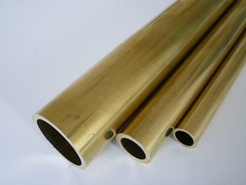 B&T Metall Messing Rohr Ø 10,0 x 1,0 mm rund - ca. 500 mm lang Legierung Ms63 (CuZn37)