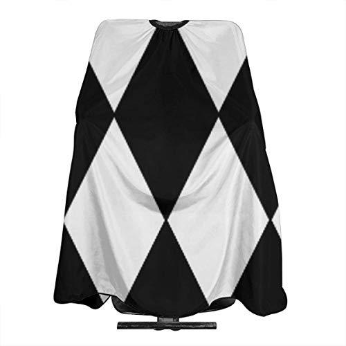 Large black and white harlequin diamond pattern