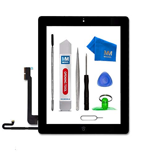MMOBIEL Digitizer Compatible with iPad 4 (Black) 9.7 Inch Touchscreen Front Display Assembly Incl Tool kit (Ipad Digitizer 4)