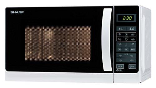 Sharp r-642ww forno a microonde con grill capacità 20 litri potenza 800 watt colore bianco