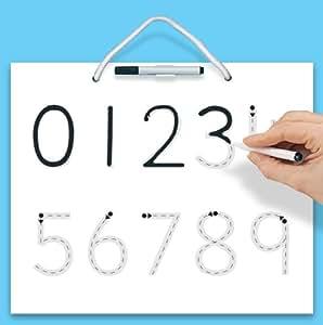 Mon premier tableau pour apprendre à écrire les chiffres de 0 à 9 - Jeu éducatif