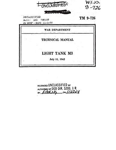 TM 9-726 Light Tank M3 Stuart, 1942 Technical Manual (English Edition)