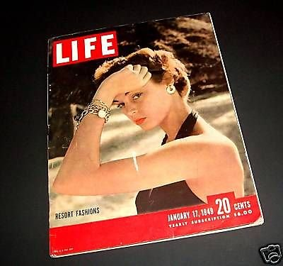 Life Magazine - January 17, 1949 -- Cover: Resort Fashions - Resort-fashion