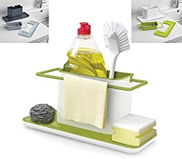 Cpixen Plastic Sponge Scrubber Brush Holder Drainer Storage (Green)